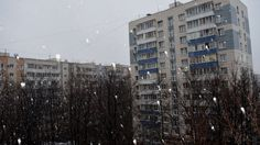 Snowfall in Moscow on April 3,2017