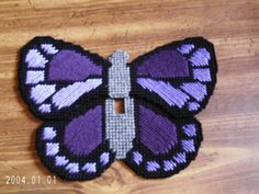 Cute butterfly - plastic canvas