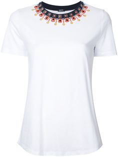 JIL SANDER Embellished Neck T-Shirt. #jilsander #cloth #t-shirt