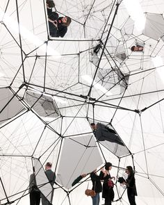 "Tomás Saraceno. ""Stillness in Motion – Cloud Cities"", 2016. Installation view, San Francisco Museum of Modern Art. Curated by Joseph Becker."