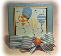 Stampin' Up Card - Similar colour combo to the card I made with this set. Loving the ribbon with the button