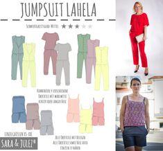 JUMPSUIT LAHELA bei Makerist Tube Top, Couture, Mix N Match, Playsuit, Overalls, Onesies, Capri Pants, Chiffon, Blouse