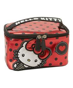 Look at this #zulilyfind! Hello Kitty Bow & Heart Cosmetic Bag #zulilyfinds