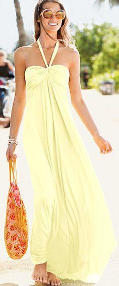 maxi bra top #dress  http://rstyle.me/n/fv5hqpdpe