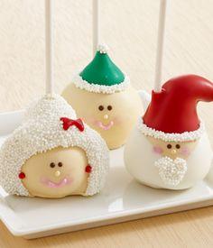 fudgy Santa cake pops