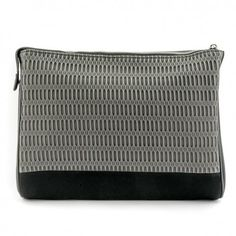 Bethge | Zip Wallet with a lovely mesh-surface. Colours: black and cold grey.