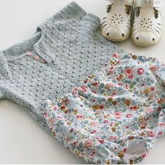 Knitted top, Liberty of London bloomers :: norsk_barnemote on Instagram