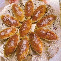 (Barquettes à la noix de coco) حلوة باركات بجوز الهند