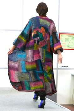 RUSSIAN LANDSCAPE handmade knitted summer coat by annalesnikova