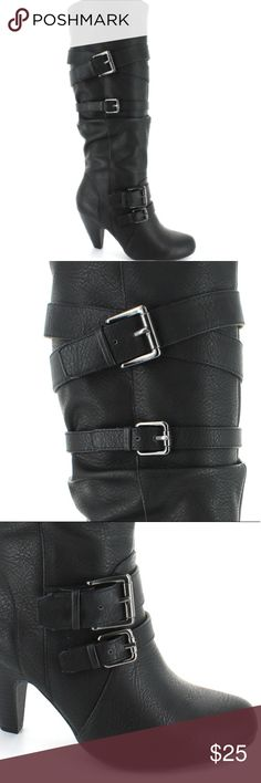 NEW Dolce by Mojo Moxy Black Heel Boots Brand new. No box, but never worn. Mojo Moxy Shoes Heeled Boots