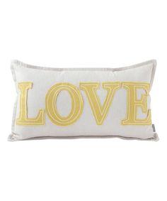 Look at this #zulilyfind! 'Love' Appliqué Lumbar Pillow #zulilyfinds
