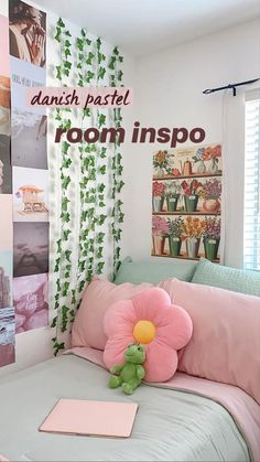 Pastel Room Decor, Pastel Bedroom, Cute Room Decor, Neon Bedroom, Teen Room Decor, Room Design Bedroom, Room Ideas Bedroom, Bedroom Inspo, Bedroom Bed