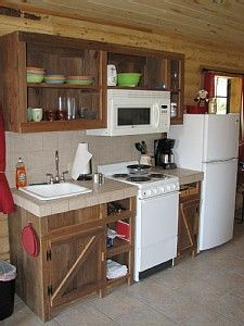 Tiny Cabin Kitchen | Pittsburg Cabin Rental: Lakeside Log Cabins On Texas  Family Farm .