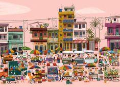 """Esta ilustración fue una colaboración para el Blog de una gran escritora y amiga holajulieta.com del texto """"Un domingo en la Alameda"""" y la apertura de mi pagina de ilustración en www.facebook.com/paolaescobarilustracion"""