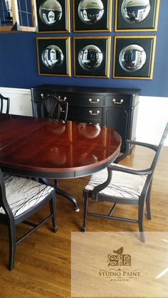 Beautiful Duncan Phyfe dinning table and 6 chairs | Duncan phyfe ...