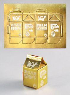 Milk Carton Postcards, perffed to make a carton