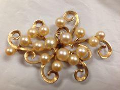 Mings Gold Pearl Brooch. Custom piece
