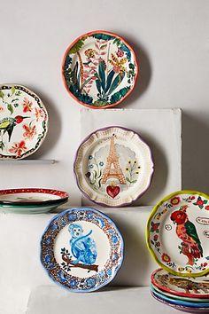 Francophile Dinner Plate - anthropologie.com #Anthropologie #PinToWin