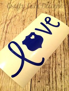 Police Love Decal by CraftyCuteDesignsNC on Etsy