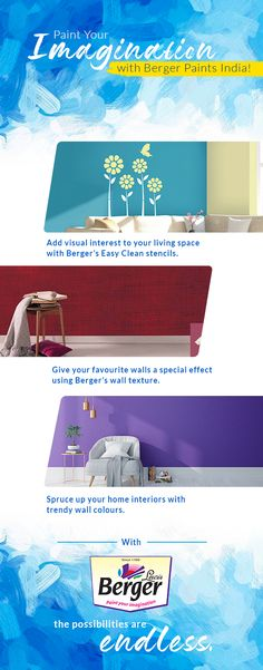 Need ideas to paint your imagination on the walls of your home? Look no more. #HomePaint #Home #HomeLove #PaintIdeas #ColourLove