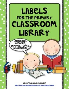152 Labels for the Primary Classroom Library  $6.00