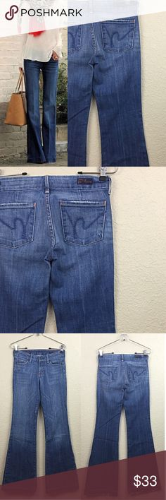 Citizens of humanity jeans Citizens of humanity low waist full leg jeans size 24 excellent condition $209 Citizens of Humanity Jeans Flare & Wide Leg