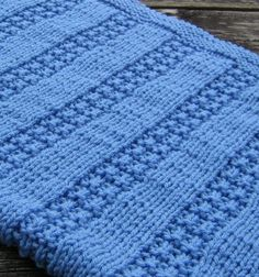 Free knitting pattern for Newborn Baby Blanket one skein project
