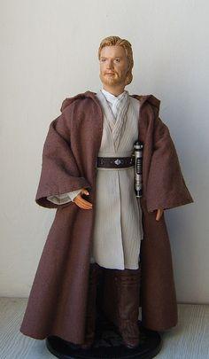 "Obi-Wan Kenobi - ooak 12"" customized doll/figure"