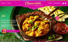 Web site for launch of a new range of indian spices
