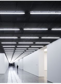 jessbosskatemoss: Architecture Today Feature Nov 2011 White Cube Gallery Bermondsey London by Casper Mueller Kneer. Photography by Paul Riddle. Corridor Lighting, Linear Lighting, Interior Lighting, Lighting Design, Gallery Lighting, Ceiling Lighting, Neon Lighting, Architecture Today, Light Architecture