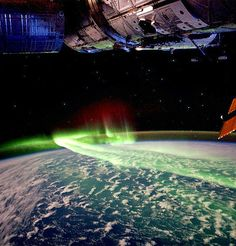 Southern Aurora as seen from International Space Station