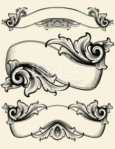 Designed by a hand engraver. Elaborate ribbon banners with copy space. Authentic engraving designs. Change color and scale easily with the enclosed EPS and AI files. Also includes hi-res JPG.