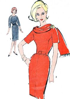 1960s Dress and Scarf Pattern Advance 2995 Sew Easy by paneenjerez, $14.00
