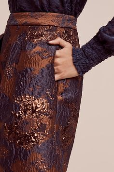 Shimmered Copperwave Skirt
