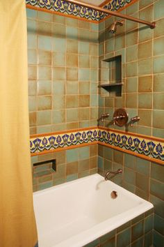 Spanish Revival Restoration Mediterranean Bathroom Los Angeles Cynthia Bennett Associates