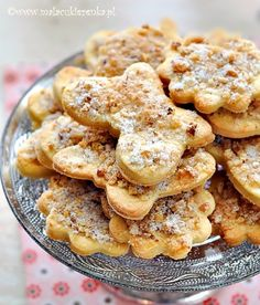 Visit the post for more. Cookie Swap, Cookie Jars, Polish Recipes, Polish Food, Shortbread Cookies, Homemade Cakes, Cookie Recipes, Food And Drink, Favorite Recipes