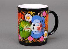 Ukrainian style coffee mug by Ethnicpresents on Etsy