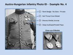 Austro-Hungarian Infantry Photo ID - Example No. 4. 1914 - 1918. WW1.