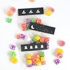 Get your candy all prepped for Halloween with these printable treat bag toppers!