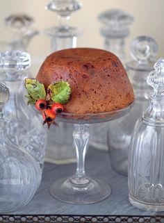 Plum Pudding by cook youself thin chef Harry Eastwood.    Photograph (c) Jean Cazals  #christmas #pudding #dessert