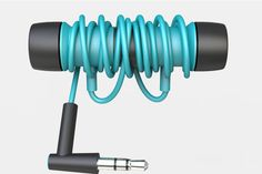 Products we like / Headphones / Cable management / Turquise / Auil by Alan Javier, via Behance