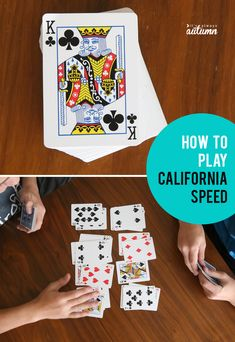 California speed is a fun, easy to learn and fast paced card game! great game to teach your kids this summer. Group Card Games, Math Card Games, Family Card Games, Card Games For Kids, Playing Card Games, Games For Teens, Adult Games, Best Card Games, Speed Card Game