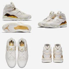 "All guts no glory. The Nike Air Jordan 8 Retro Championship Pack ""Champagne"" is available at kickbackzny.com."