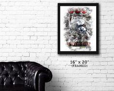 """FRAMED """"HUFFER"""" Street Rod garage art print"""
