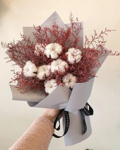 Beautiful Bouquet Of Flowers, Beautiful Flower Arrangements, Fake Flowers, Amazing Flowers, Dried Flowers, Floral Arrangements, Beautiful Flowers, Wedding Flowers, Cotton Bouquet