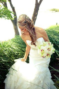 Hair by Jackie Bridal Hair, One Shoulder Wedding Dress, Wedding Dresses, Fashion, Bridal Dresses, Moda, Bridal Gowns, Wedding Gowns, Weding Dresses