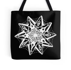 Star 1 White Zentangle by Heather Holland - See Product Notes for Colour Options on this item at http://www.redbubble.com/people/heatherian/works/13655188-star-1-white-zentangle-by-heather-holland-see-product-notes-for-colour-options
