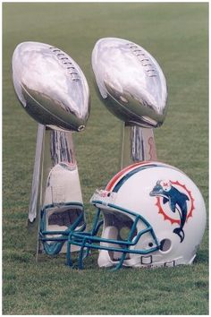 1973-73 Miami Dolphin Super Bowl Trophies