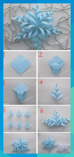 trendy origami paper folding snow flake trendiges Origami-Papier, das Schneeflocken faltet The post trendige Schneeflocken aus Origami-Papier appeared first on Instruções Origami, Origami Design, Origami Stars, Origami Envelope, Origami Folding, Origami Flowers, Snowflake Origami, Origami Tattoo, Snowflake Template