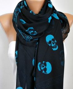 Blue skull scarf   Generally not one for scarves, but this one's cool